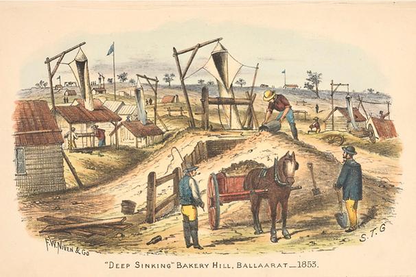 S T Gill, Deep Sinking, Bakery Hill, Bal