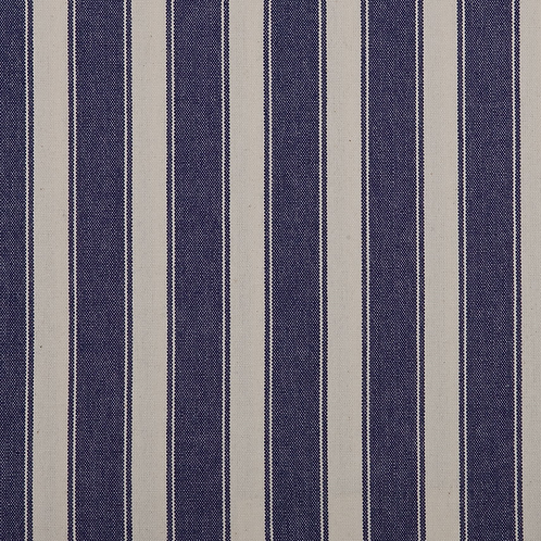 Navy Block Stripe Fabric