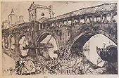 Frank Brangwyn, Old Bridge, Pavia