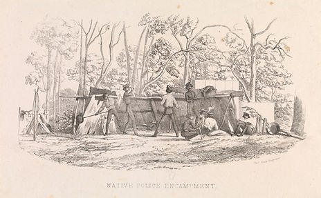 Native Police Encampment, Thomas Ham Eng