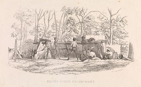 Native Police Encampment, Thomas Ham Eng