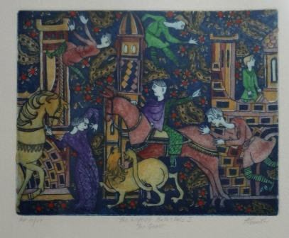 Anne Smith, The Wife of Bath's Tale I the Quest, Coloured Etching, AP III/VI
