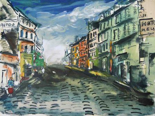 Maurice Vlaminck Untitled (Street Scene) Lithograph