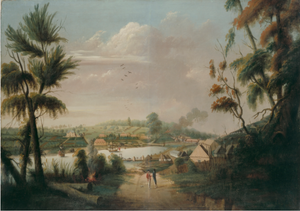 Thomas Watling, A direct north general view of Sydney Cove, 1794, Dixson Galleries, SLNSW
