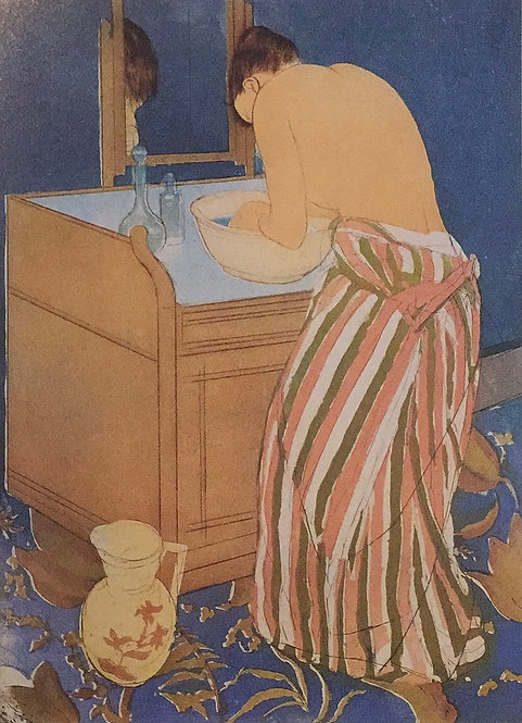 Mary Cassatt, Woman Bathing, 1890-91