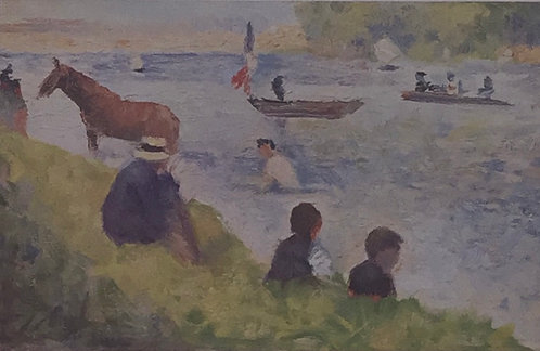 Georges Seurat, Study for Bathers as Asnieres 2