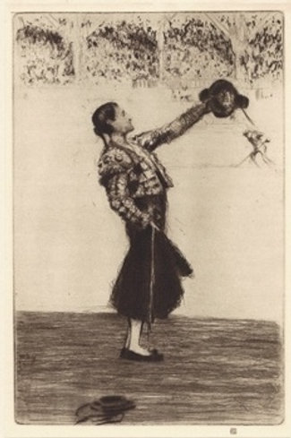 James McBey Ovation to the Matador