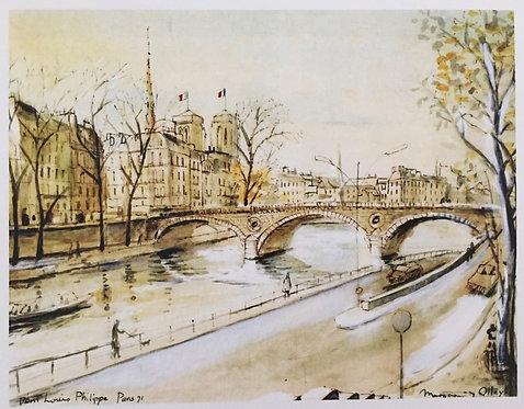 Margaret Olley, Pont Louis Phillippe, Paris