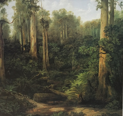 Isaac Whitehead, A Sassafras Gully, Gippsland (detail) c1870