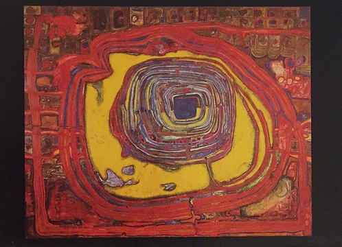 Hundertwasser, The Tower of Babel Perforates the Sun