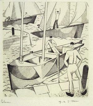 J E Laboureur, Marine aux Quatre Bateaux