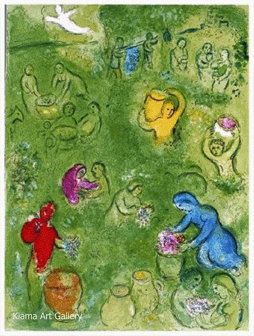 Chagall Daphnis and Chloe 1977 Print 320mm x 240mm The Grape Harvest