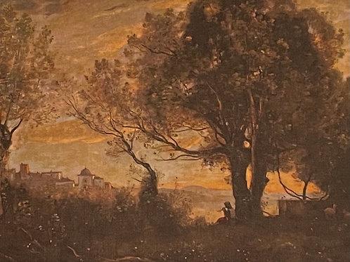 Camille  Corot, Souvenir d'Italie Castelgrandolfo