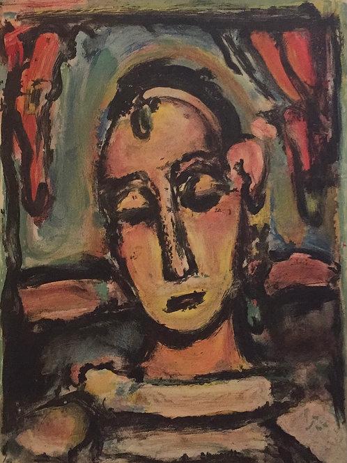 Georges Rouault, Tete De Jeune Fille