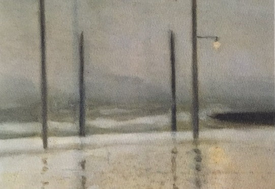 Clarice Beckett, Wet Night, Brighton