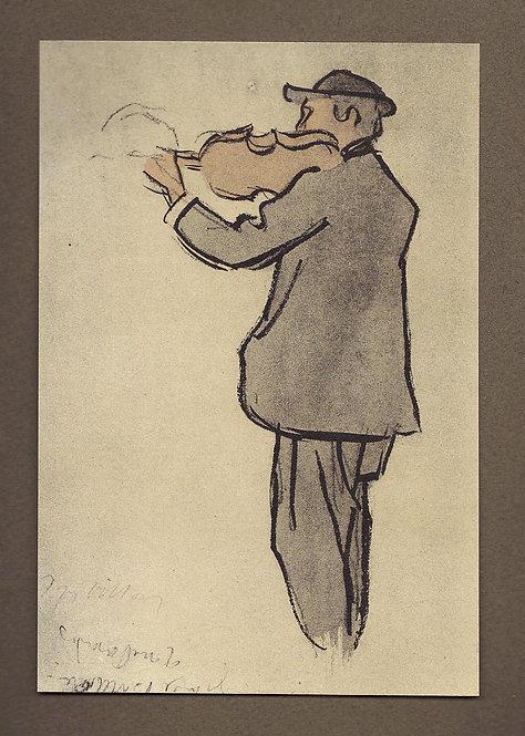 Jacques Villon, Violoniste dans une cour