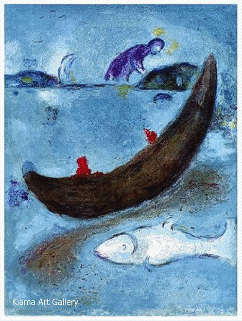 Chagall Daphnis and Chloe 1977 Print 320mm x 240mm The Dead Dolphin and the 300 Crowns