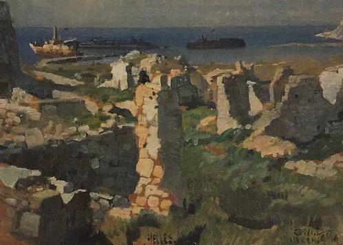 George Lambert, River Clyde at Cape Helles