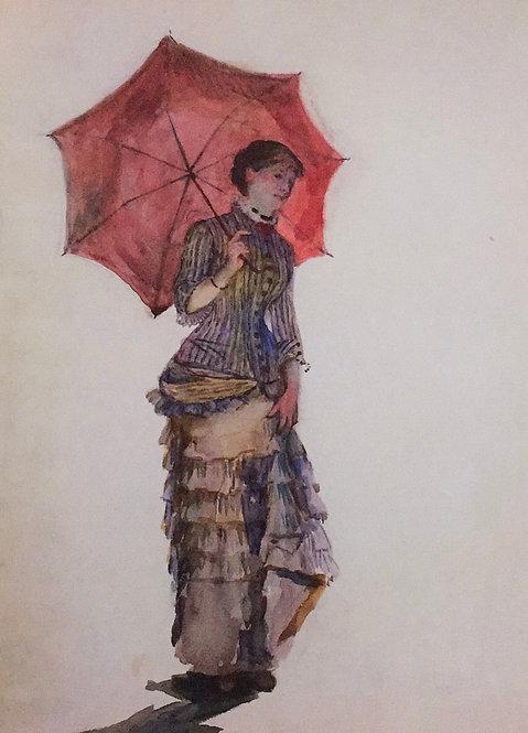 Marie Bracquemond, Woman with Umbrella, 1880