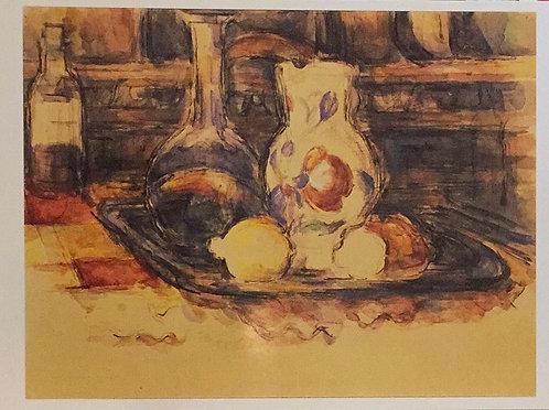 Paul Cezanne, Bottle, Carafe, Jug and Lemons