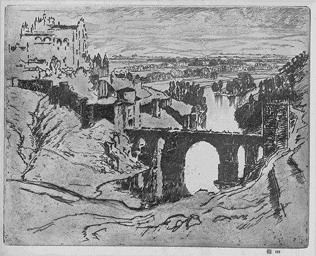 Joseph Pennell, St Martin's Bridge Toledo