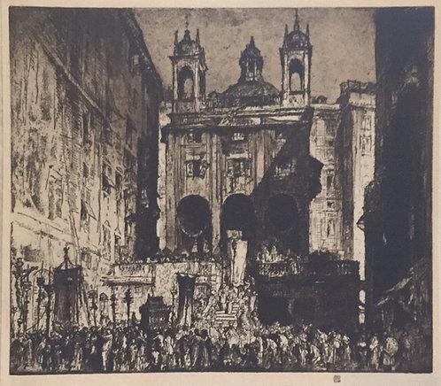Frank Brangwyn,  St Peter's of the Exchange, Genoa