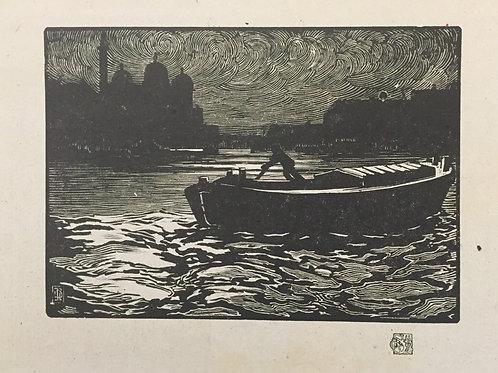 J Barrie Robinson, Evening, Prince's Dock, Hull