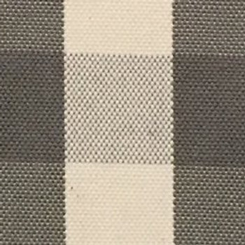 Grey and White Single Sided Padded Cover
