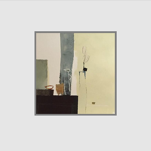 Christian Choisy, Nature Morte au Pichet Blanc with mount & backing