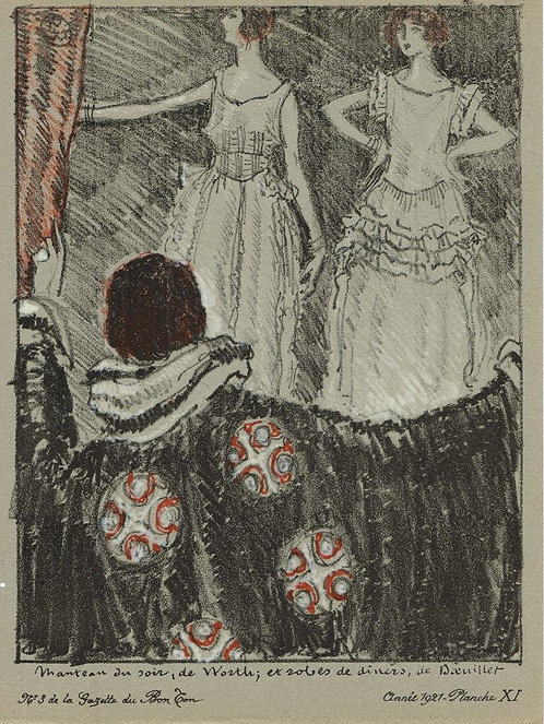 Gazette Du Bon Ton 1921 No 3 Lithograph