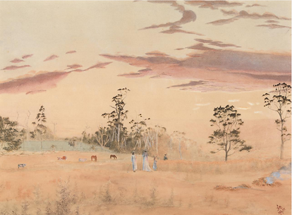 Emma Minnie Boyd, View from the Grange,