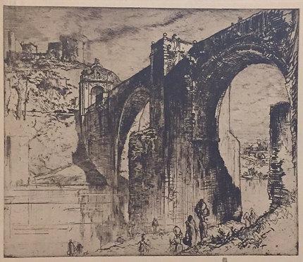 Frank Brangwyn, The Alcantara Bridge, Toledo