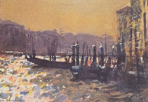 Ken Howard, The Grand Canal, Venice, Sunset, 1986