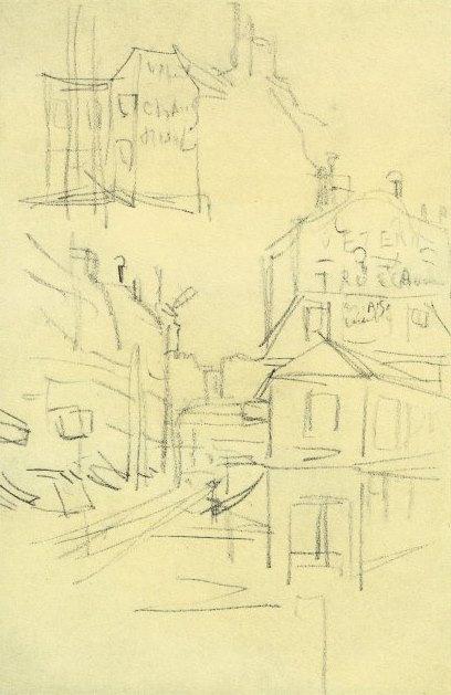 Jacques Villon, Bas de la rue Lepic