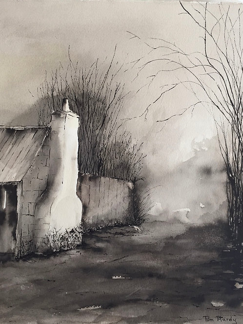 Tim Hardy, The Road by the Slab Hut