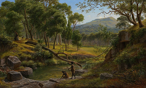 Eugene von Guérard, Warrenheip Hills nea