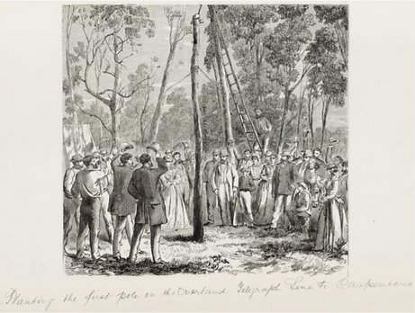 Samuel Calvert, Planting the first pole