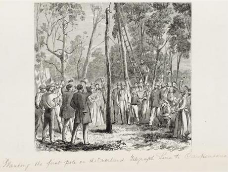 Samuel Calvert, Planting the first pole