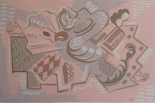 Pochoir c1920 possibly Serge Gladky Plate 2