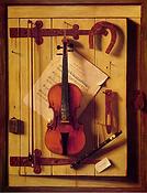 William Michael Harnett, Still life, Violin and Music, 1888