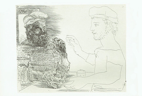 Pablo Picasso, Two Catalan Men