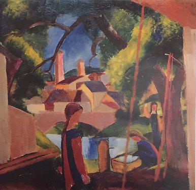 August Macke, Children at the Well, (detail)