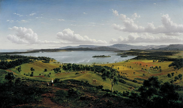 Eugene Von Guerard View of lake Illawarr