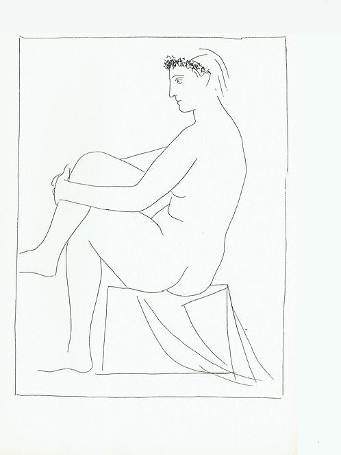 Pablo Picasso, Seated Nude Crowned with Flowers