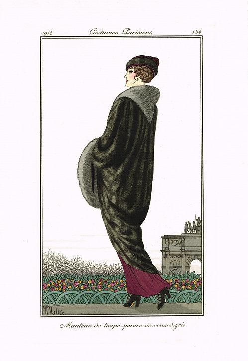 Costumes Parisiens 1914 Pochoir
