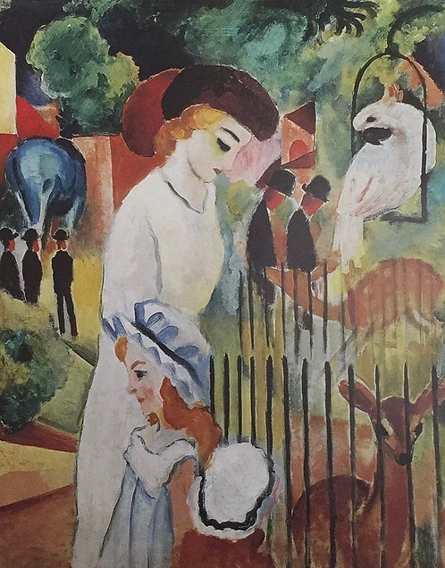 August Macke, Large Zoological Garden (detail)