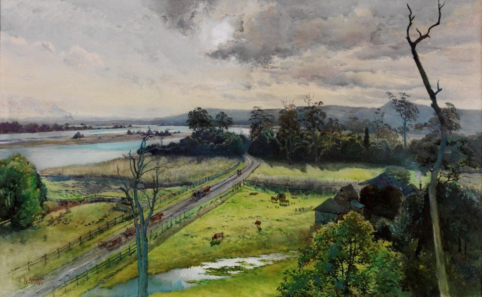Julian Ashton Shoalhaven River, junction with Broughton Creek, New South Wales 1891