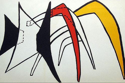 Calder - Plate 6 - Original lithograph