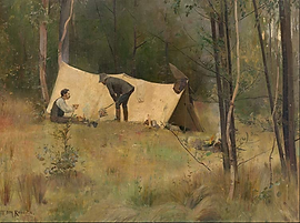 Tom Roberts, The Artists' Camp, 1887.PNG