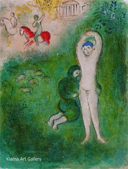Chagall Daphnis and Chloe 1977 Print 320mm x 240mm Daphnis and Gnatho